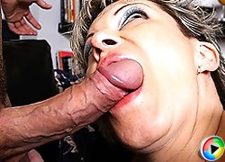 Hairy housewife fucking and sucking her ass off