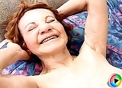 3 videos of a happy grandma getting fucked to another orgasm