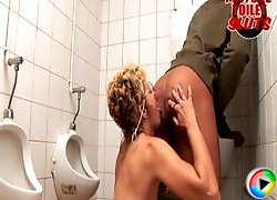 kinky mature toilet slut gets naughty