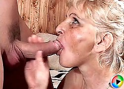 Old pensioner fucked in mouth