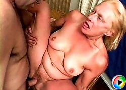 Guy fucking lusty old hooker
