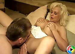 Busty blonde mature fucked